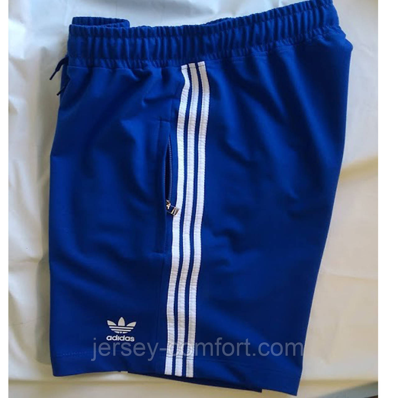Мужские синие спортивные шорты. Шорты мужские трикотажные.  Мод. 402