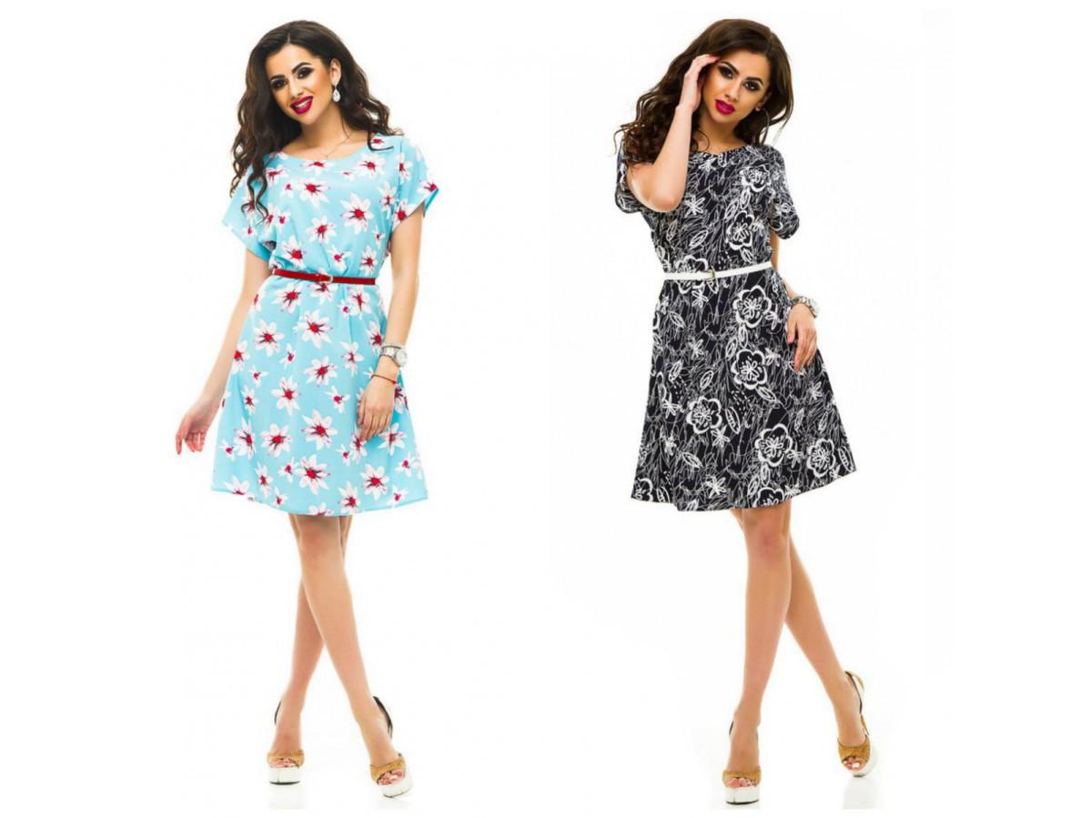 9d79a9ef31b Женское летнее платье-сарафан с принтом 29639 - СТИЛЬНАЯ ДЕВУШКА интернет  магазин модной женской одежды