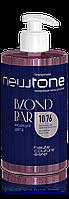 Тонуюча маска для волосся 10/76 (світлий блондин коричнево-фіолетовий) Newtone Estel 435 мл