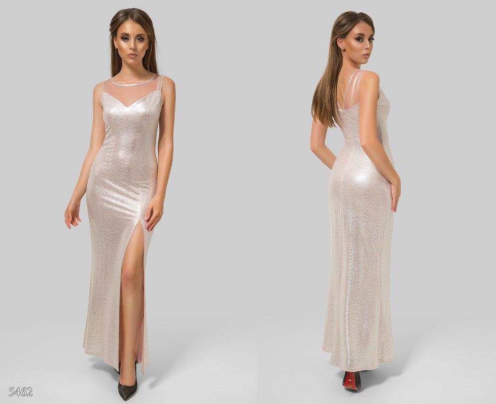 0bf2b1374f7 Силуэтное вечернее платье из трикотажа с люрексом - Интернет-магазин одежды