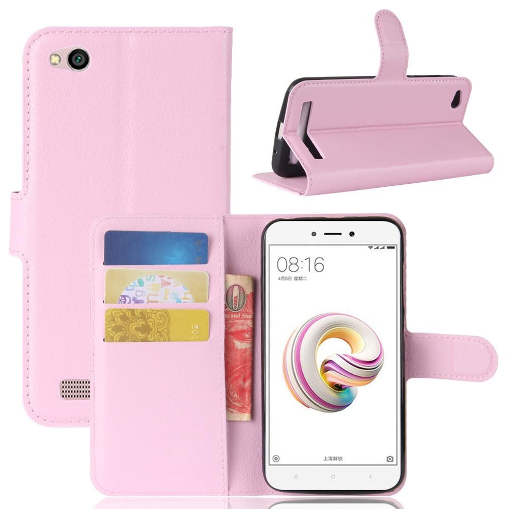 Чехол IETP для Xiaomi Redmi 5A книжка кожа PU розовый