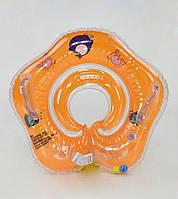 Круг для купания младенца оранжкевый