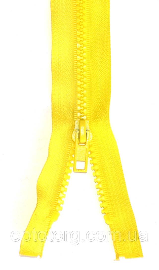 Тракторная молния трактор №5 светло желтого цвета одинарная ширина звена 5мм оптом от optotorg.com.ua