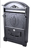 Почтовый ящик  цвет чёрный с Трезубцем Украины