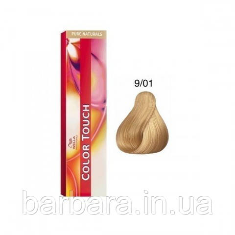 Краска для волос Wella Color Touch 9/01 оч. светлый блонд песочный