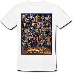 Футболка Avengers: Infinity War (белая)