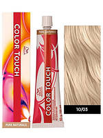 Краска для волос Wella Color Touch 10/03  натуральный золотистый светлый блондин, фото 1