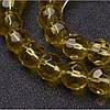 Стеклянная бусина 8мм граненая желтый для рукоделия