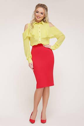 Желтая блуза Джанина д/р, фото 2