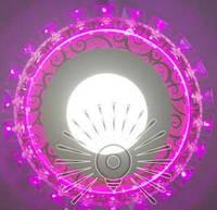 LED светильник 3+3W с RGB подсветкой / LM1012 круг + пульт, фото 1