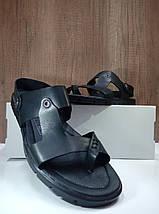 Мужские сандалии через палец из натуральной кожи , фото 3