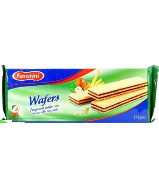 Вафлі Favorini Wafers con crema alle nociolle 175гр