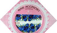Фото-дизайн 1622 Синие цветы