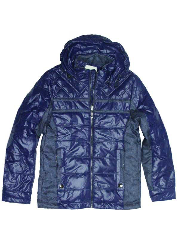 """Стильная куртка для мальчика  9--10 лет """"Casual"""" с налокотниками синяя"""
