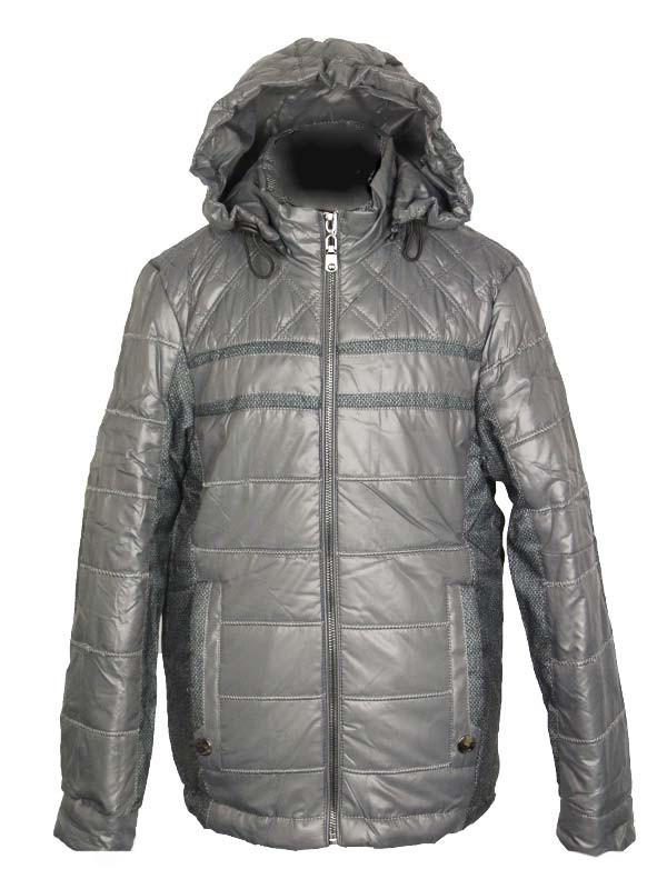 Куртка  демисезонная для мальчика 7 лет  с налокотниками серая