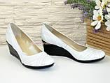 "Женские кожаные белые туфли на танкетке. ТМ ""Maestro"", фото 2"