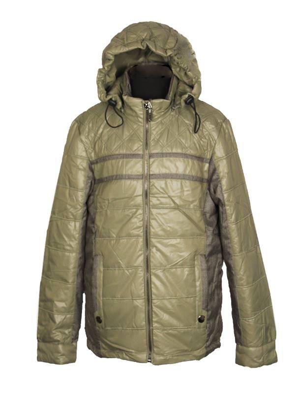 Куртка демисезонная для мальчика  от 6 до 10 лет  с налокотниками оливковая