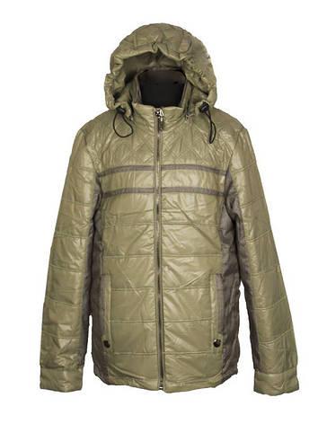 Куртка демисезонная для мальчика  от 6 до 10 лет  с налокотниками оливковая, фото 2