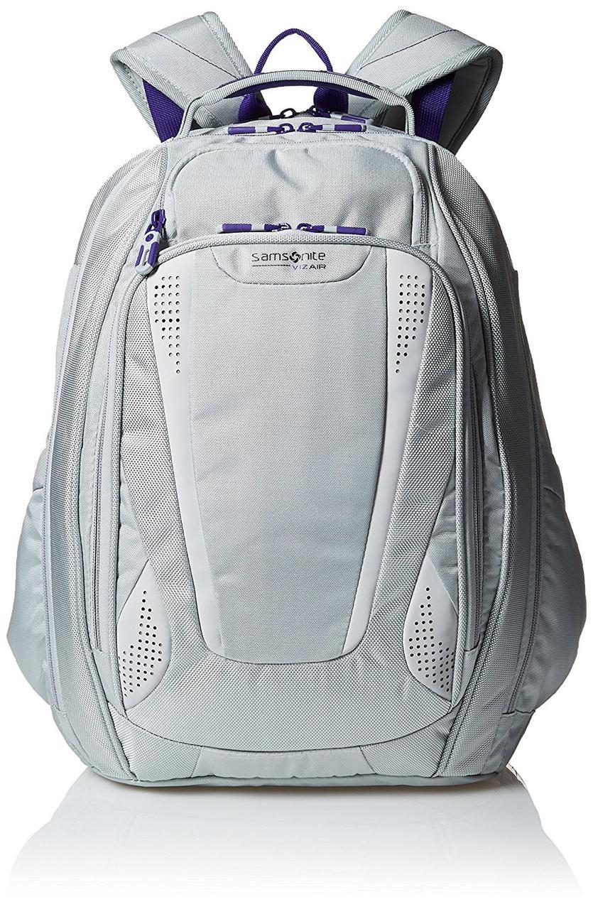 1a068fec8fd7 Рюкзак Samsonite Vizair 2 Laptop Backpack, Silver/Purple