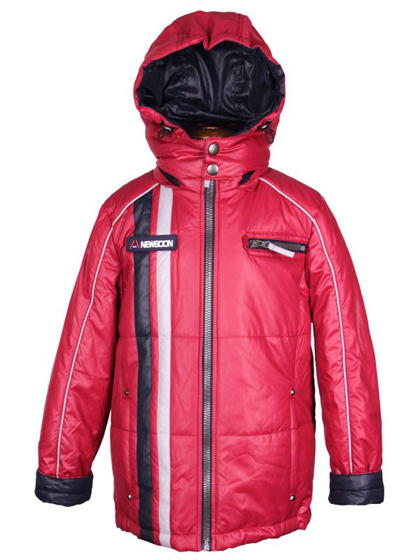 Классическая демисезонная куртка для мальчика 140-152 рост  New Soon бордовая