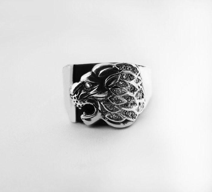 Печатка мужская серебряная Лев с Ониксом КЦ-34 Б
