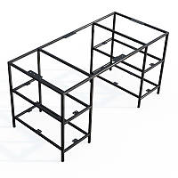 Каркас стола металлический Лофт Loft. Подстолье из металла. Основание. База. Опора. Ноги