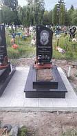 Одинарний комплекс пам'ятник із граніту на цвинтар