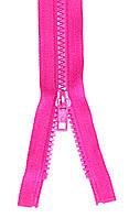 Молния тракторная Темно Розовый 55см пластиковая разъемная один бегунок