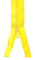 Молния тракторная Светло Желтый 55см пластиковая разъемная один бегунок