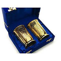 Бокалы бронзовые позолоченые(н-р 2 шт/300мл.) (h-11см) (19х15х8 см)