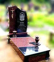 Пам'ятник на могилу комплекс з двох кольорів граніту