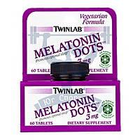 Twinlab Melatonin Dots 3 mg мелатонин гормон сна нормальизация циркадных ритмов спортивное питание