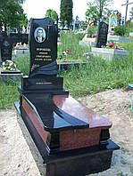 Одинарний ексклюзивний пам'ятник з граніту на могилу комплекс