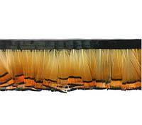 Перья декоративные фазана N19 натуральные (рыжие) на ленте 4-6 см/50 см, фото 1
