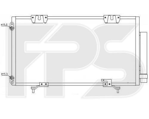 Радиатор кондиционера Toyota Avensis T22 (00-02) (Nissens)