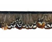 Перья декоративные фазана N20 Натуральные на ленте 4-6 см/50 см, фото 1