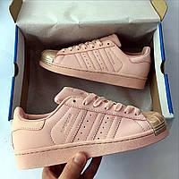 Кроссовки женские кожаные Adidas SUPERSTAR Puffy , фото 1