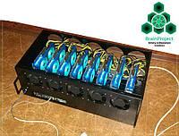 Ферма для майнинга в закрытом корпусе BrainProject 8x GTX 1050Ti (8 видеокарт) 630 Вт