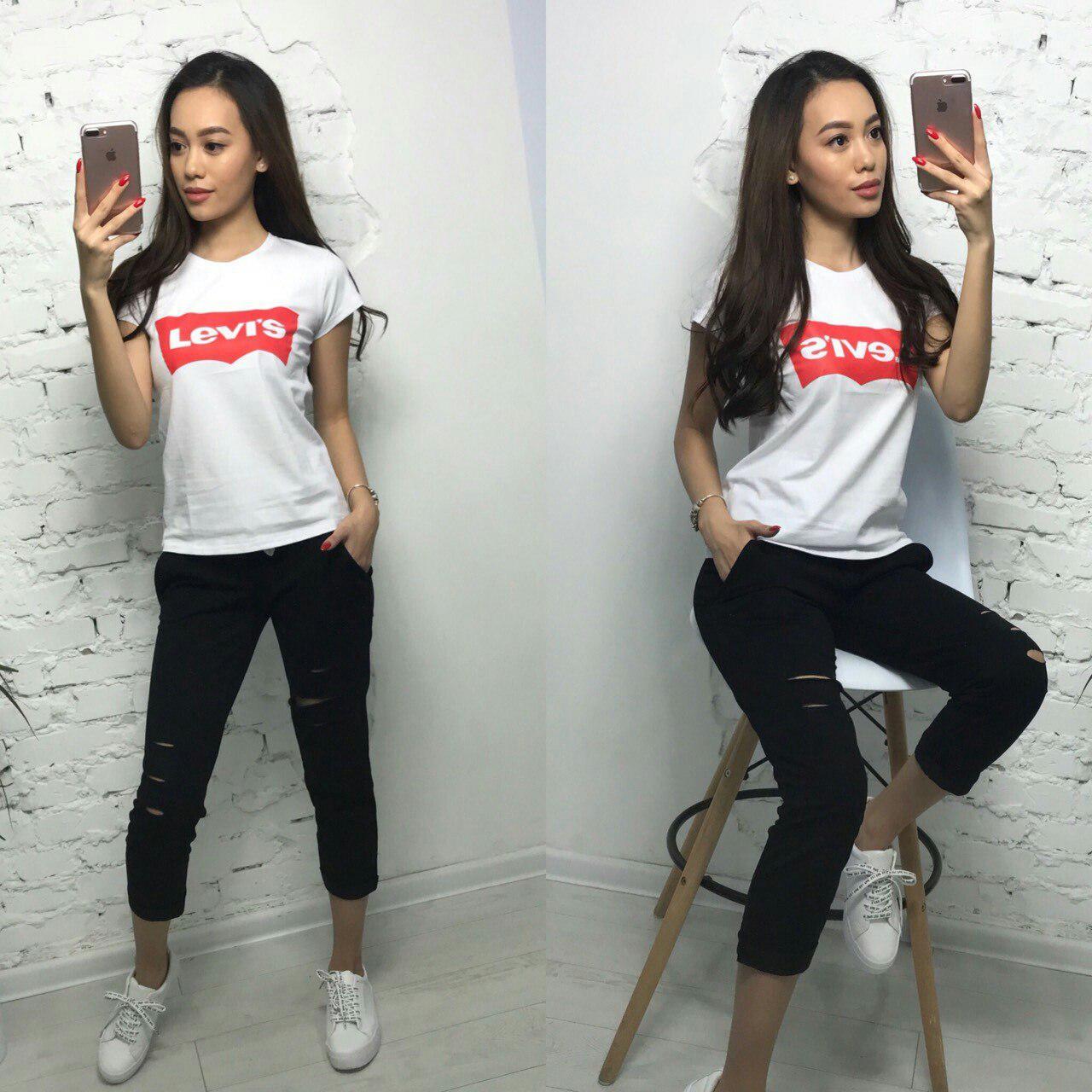 c714d0c0 Костюм женский спортивный футболка-брюки LEVI'S(много цветов ...