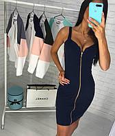 Короткое облегающее платье однотонное, фото 1