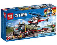 """Конструктор Lepin 02094 """"Перевозчик Вертолета"""" (реплика Lego City 60183), 347 дет, фото 1"""
