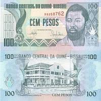 Гвинея-Биссау/Guin-Bissau 100 Pesos 1990 P11 UNC