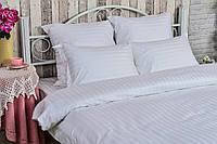 КПБ двуспальный ЕВРО сатин страйп (пододеяльник, 2 наволочки, простынь) ТМ Руно 845.50ДУ_2х2 белый