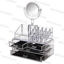 Органайзер (Бокс) для косметики с Зеркалом, фото 3