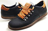 Мужские Осень-Весна Кожаные кроссовки кеды PHILIPP PLEIN model PL-2 чёрные Польша, фото 1