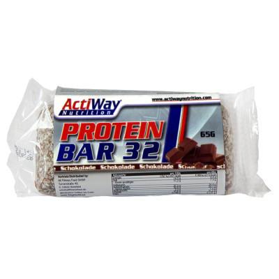 Протеїнові батончики ACTIWAY Protein Bar 32 18х65 g