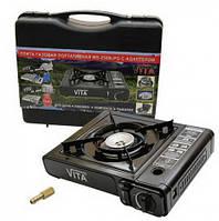 Портативная газовая плита MS-2500LPG VITA с адаптером в кейсе, фото 1
