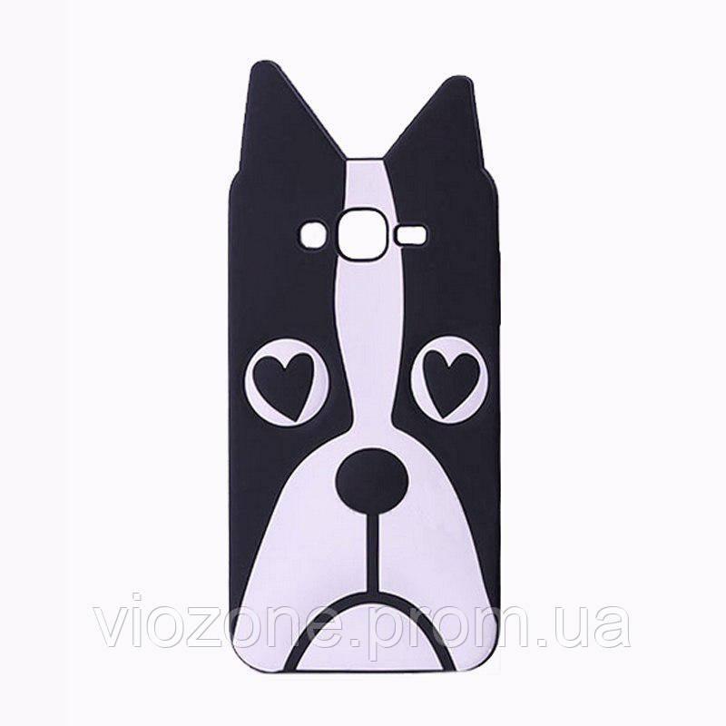 3d Чехол Бампер для Samsung Galaxy J5 2015 / J500 резиновая Собака