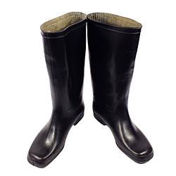Сапоги  резиновые каучук  мужские  с утеплителем  Черные