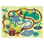 ДЬЮНГЕЛЬСКОГ Ковер, короткий ворс, зеленые джунгли, деревья, 133x100 см, 60393764, ИКЕА, IKEA, DJUNGELSKOG
